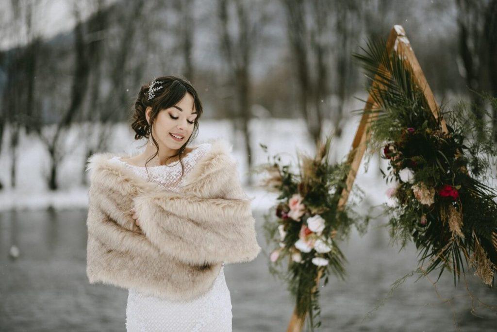 fotografia ślubna plener slubny zimowy